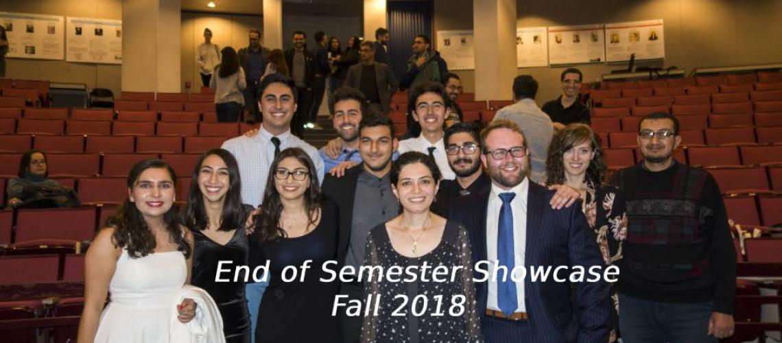 Students of Persian at the End of Semester Showcase Fall 2018